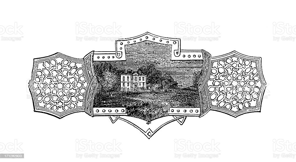 Benjamin Chew House in Pennsylvania | Historic American Illustrations royalty-free stock vector art