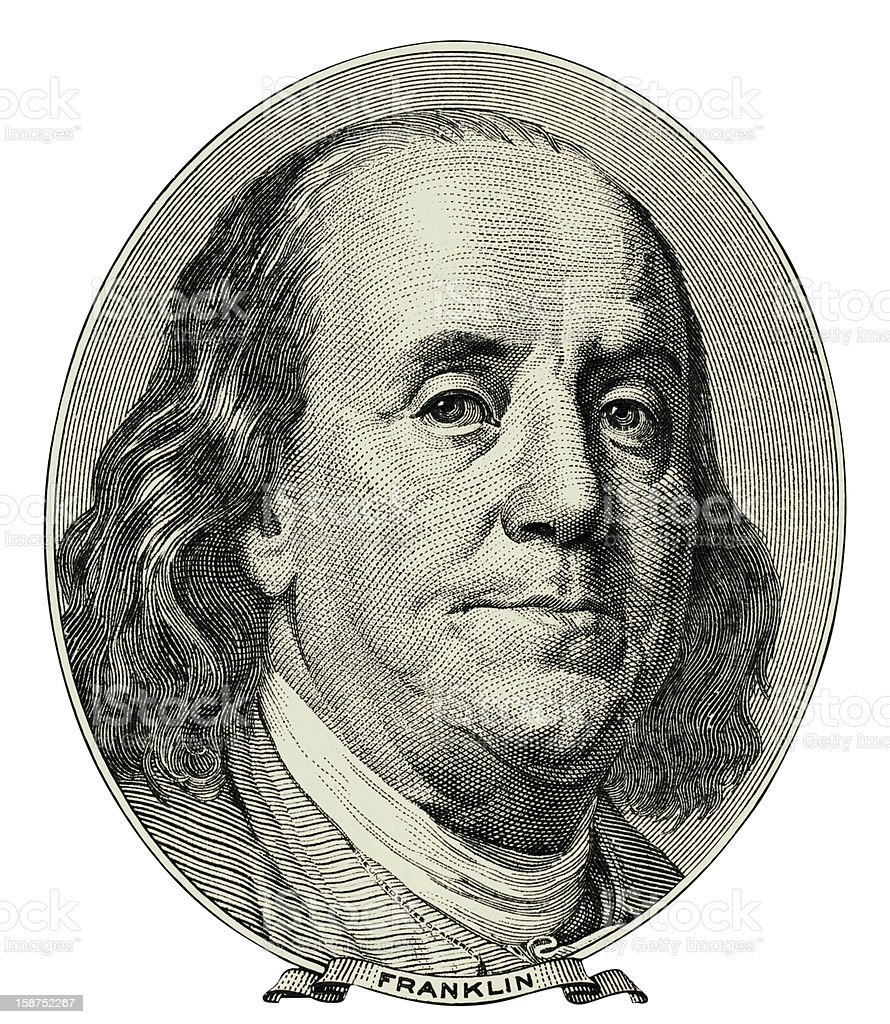 Benjamin Franklin royalty-free stock vector art