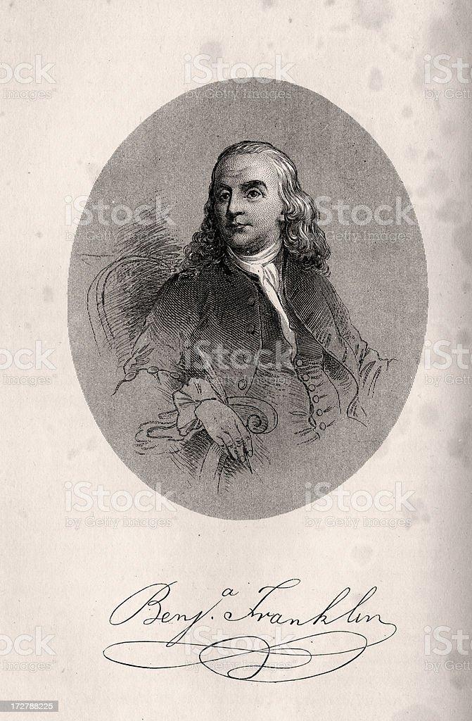 Benjamin Franklin royalty-free stock vector art