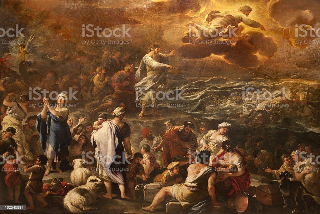 Bergamo -Crossing the Red sea royalty-free stock vector art