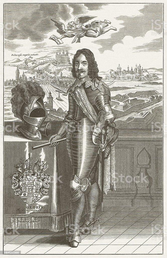 Bernhard of Saxe-Weimar royalty-free stock vector art