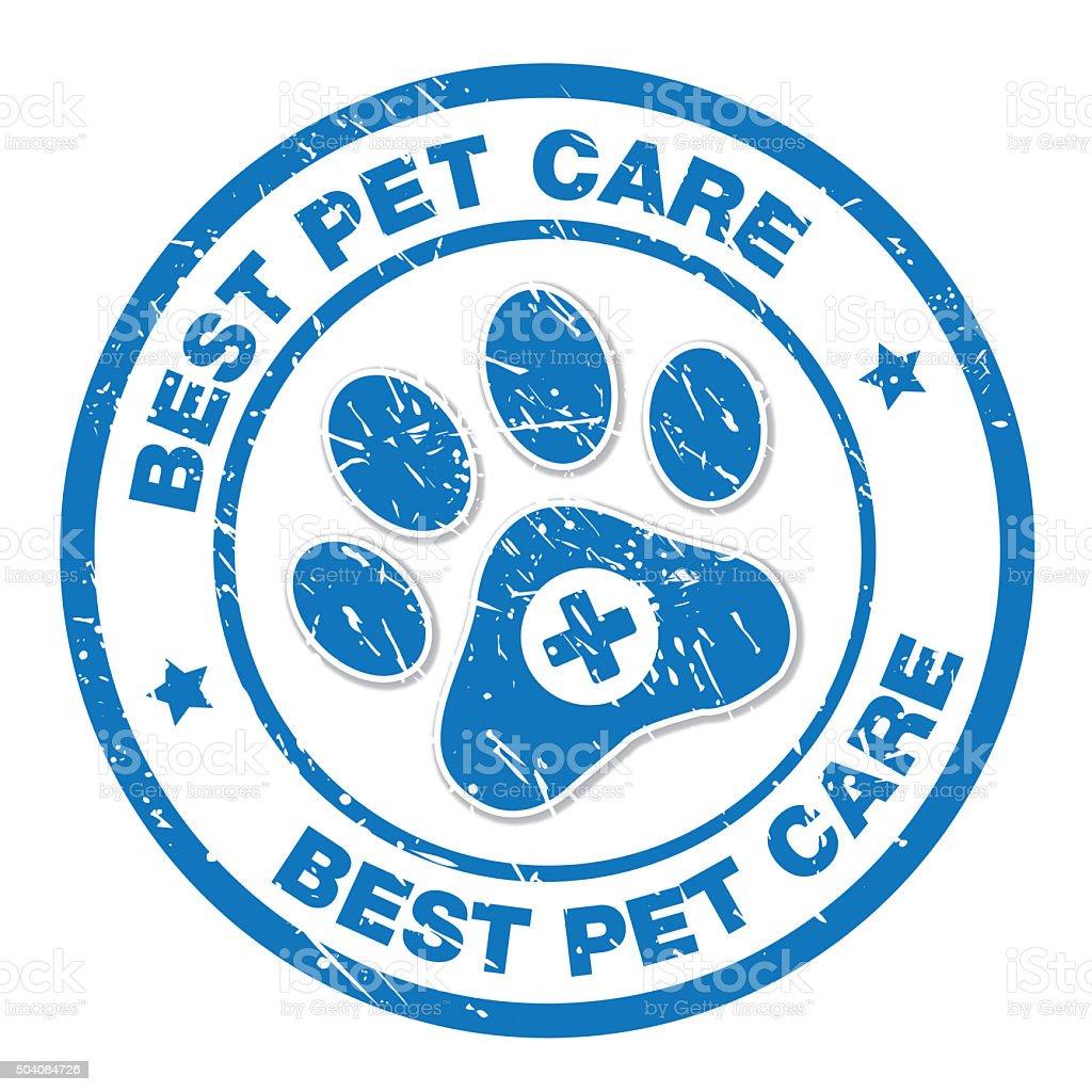 Best Pet Care Label vector art illustration