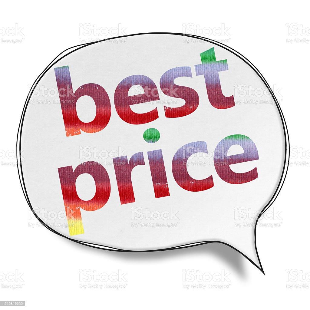 Best Price- Speech Bubbles (Clipping Path) vector art illustration