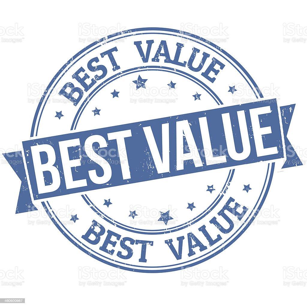 Best value stamp vector art illustration