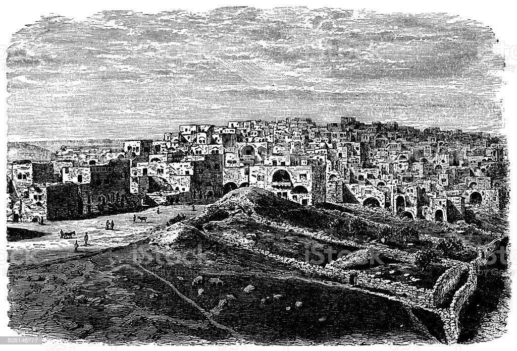 Bethlehem, Israel vector art illustration