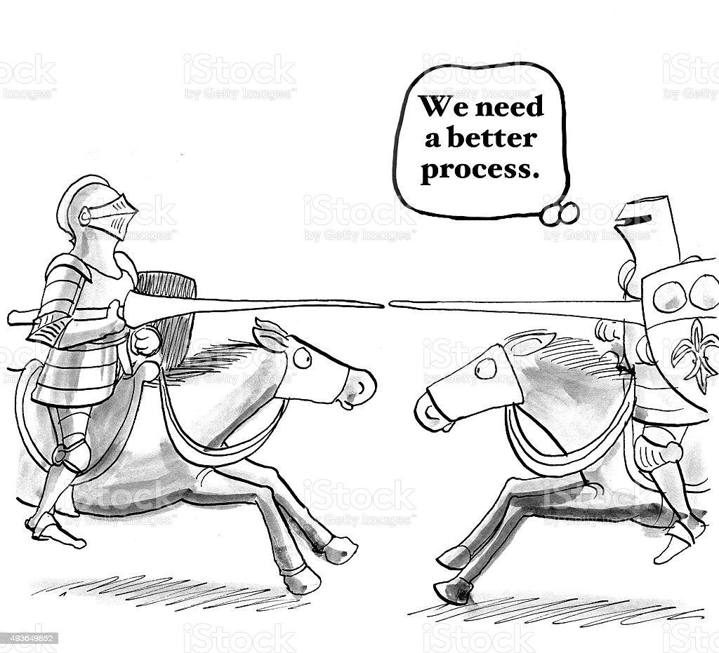 Better Process vector art illustration