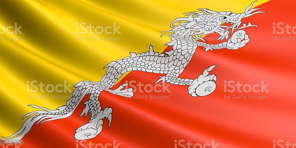 Bhutan flag. royalty-free stock vector art