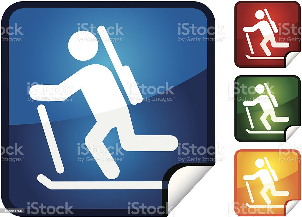 Biathlon | Sticker Collection royalty-free stock vector art