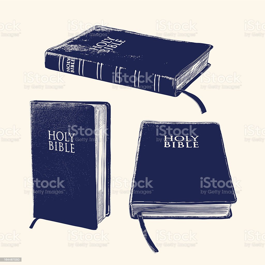Bible vector llustration royalty-free stock vector art