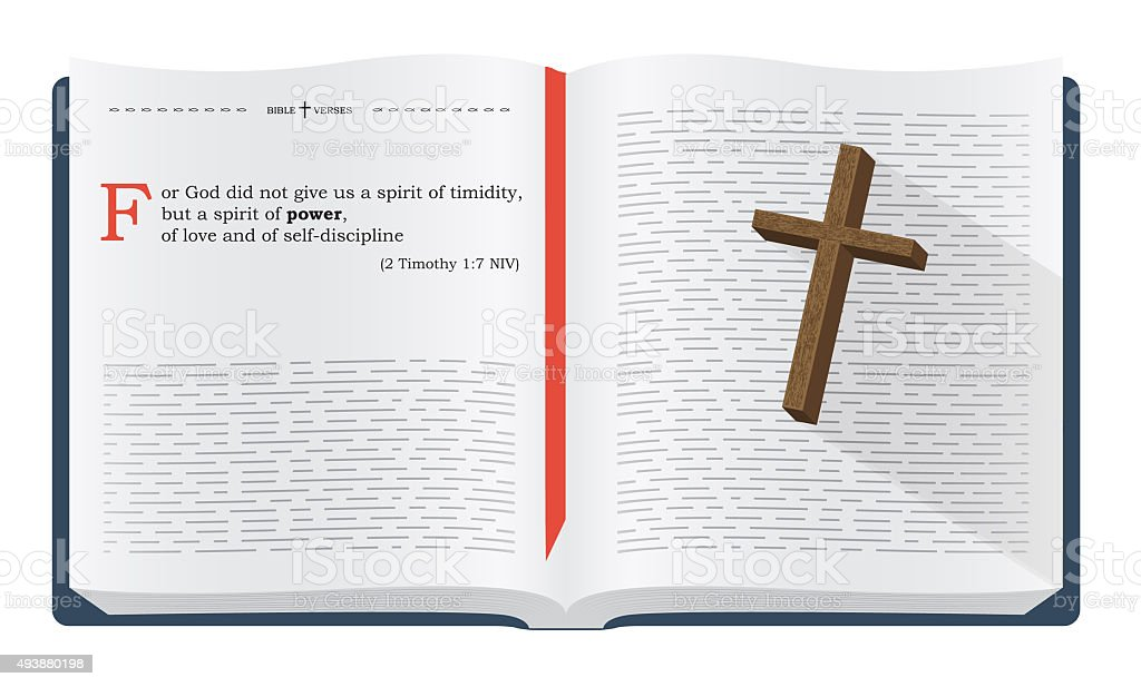 Bible verses for Bible study vector art illustration