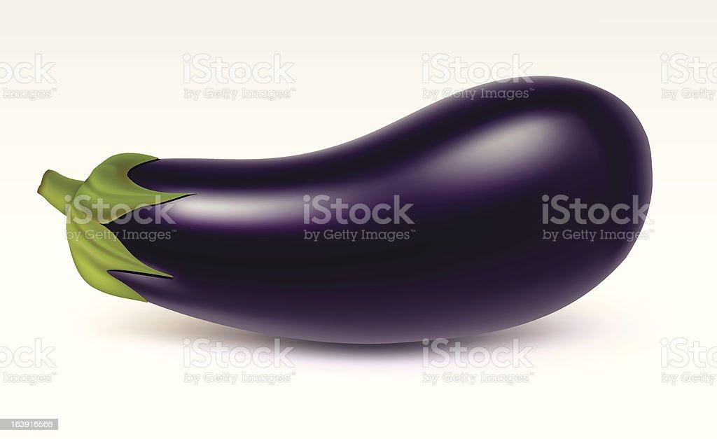 Big aubergine royalty-free stock vector art