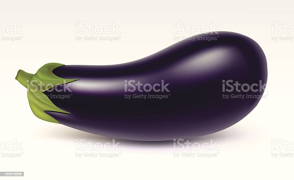 Big aubergine vector art illustration