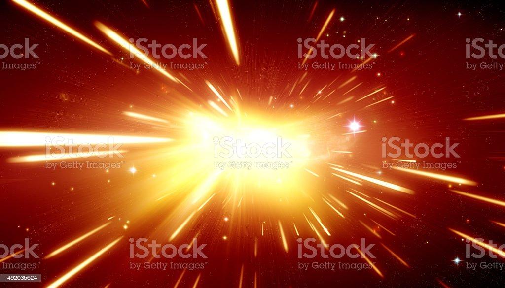 Big bang theory vector art illustration