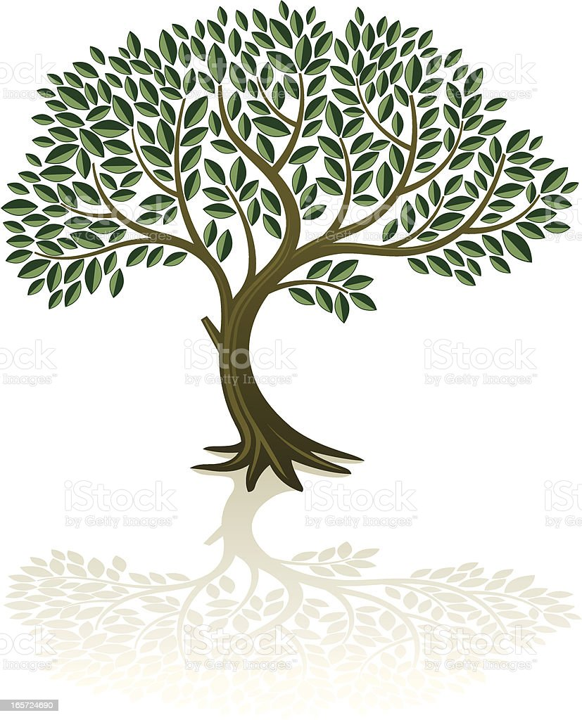 Big bent tree royalty-free stock vector art