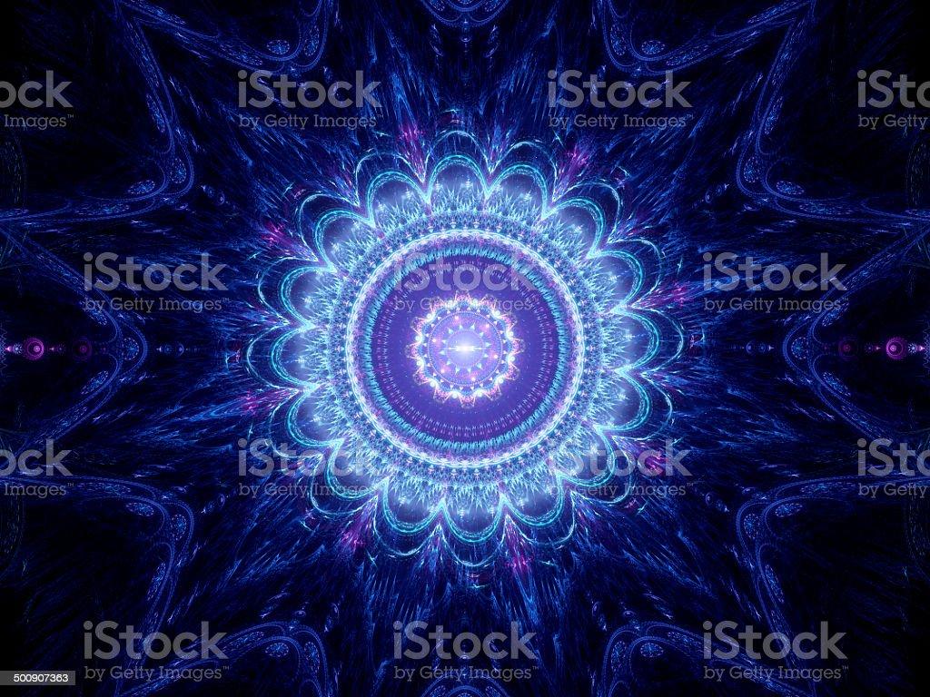 Big blue mandala royalty-free stock vector art