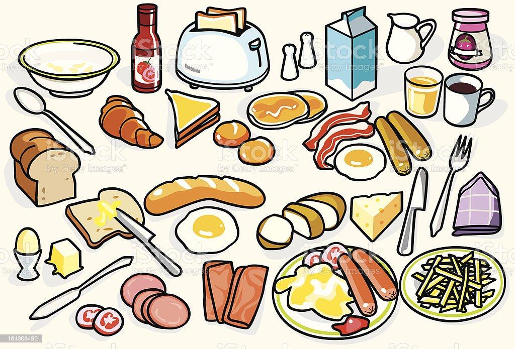 Big Breakfast!!! (Colors) royalty-free stock vector art