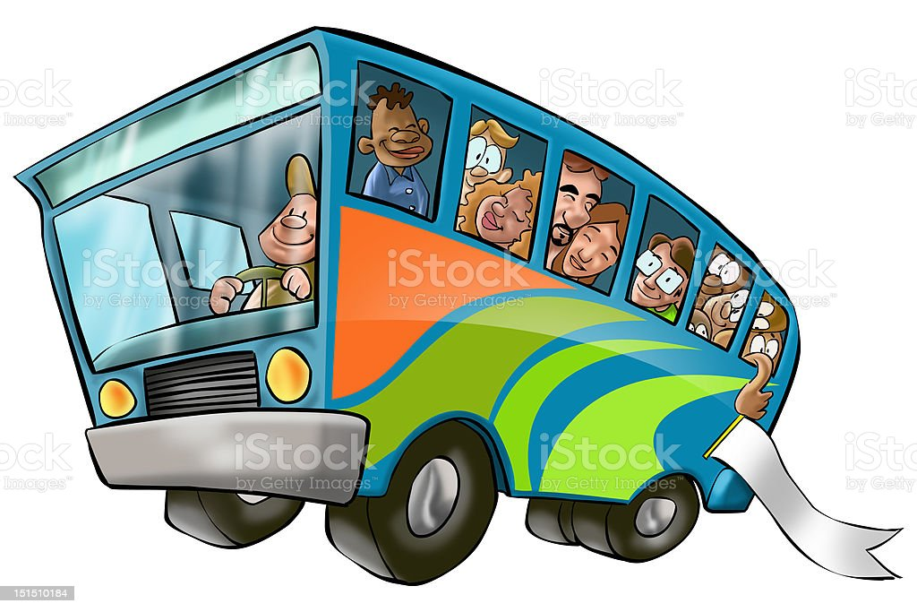 big bus vector art illustration