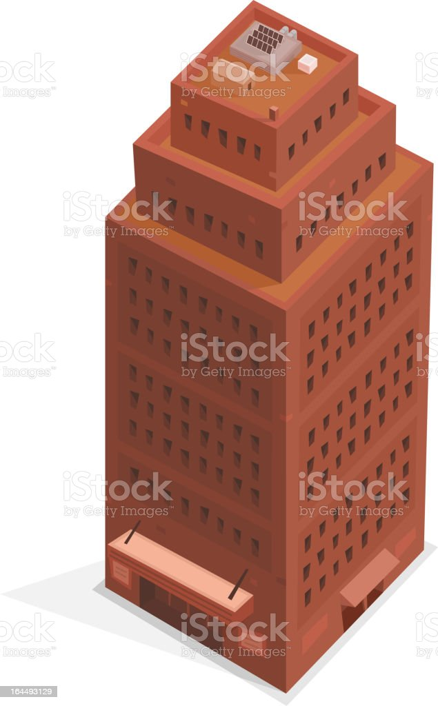 Big Business Isometric Building royalty-free stock vector art