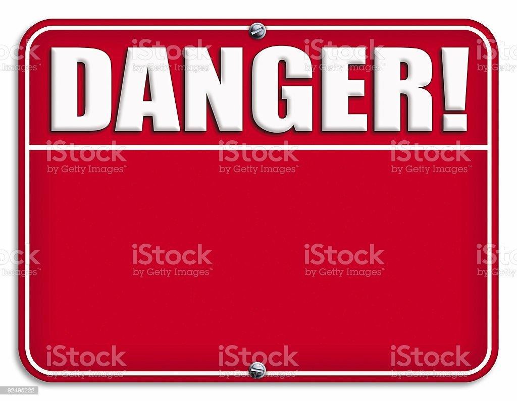 Big Danger Sign royalty-free stock vector art