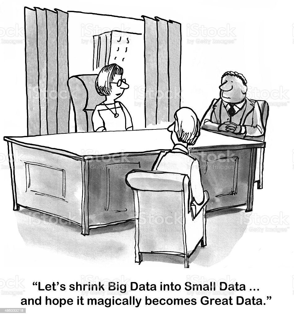Big Data vector art illustration