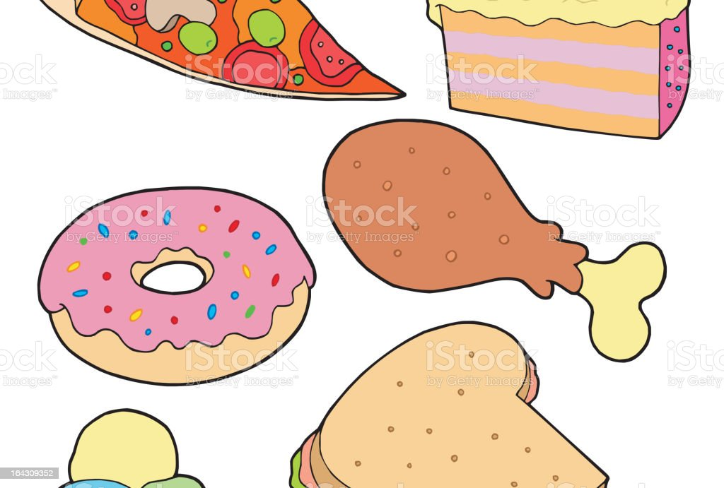 Big food collection royalty-free stock vector art