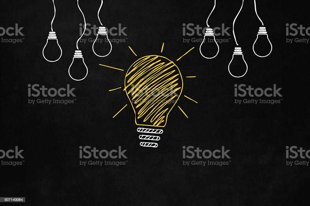 Big Good Idea concept vector art illustration