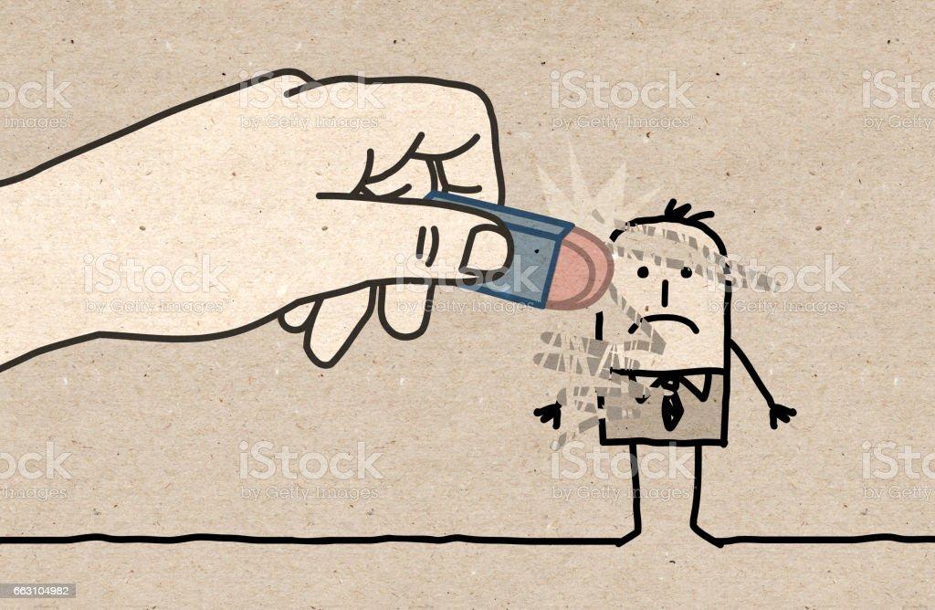 Big Hand - eraser vector art illustration