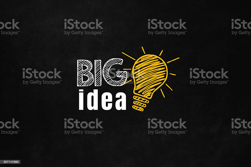 Big Idea concept on blackboard vector art illustration