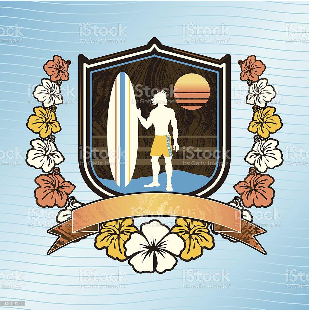 Big Kahuna Crest vector art illustration