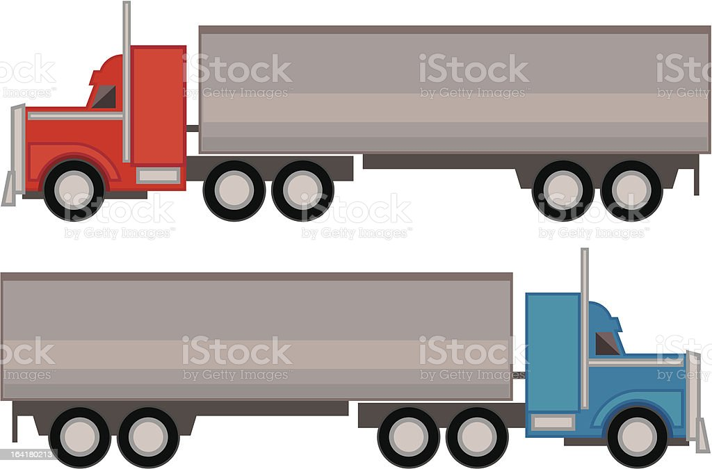 Big Rigs vector art illustration
