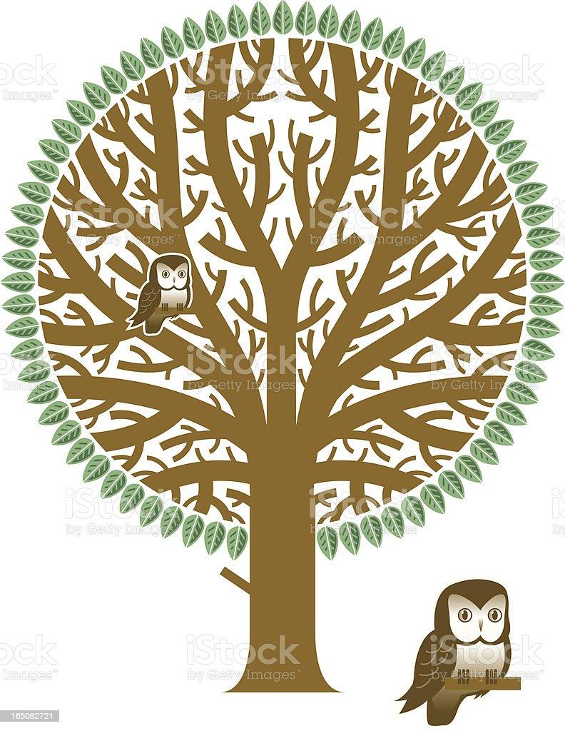 Big tree vector art illustration