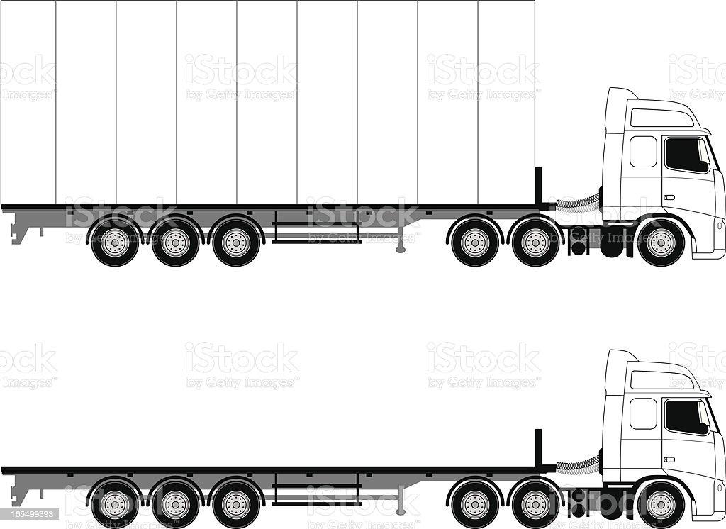 Big truck royalty-free stock vector art