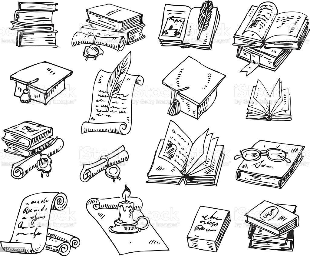 big vector set - books royalty-free stock vector art