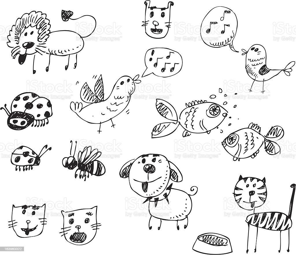 big vector set - pets and animals royalty-free stock vector art