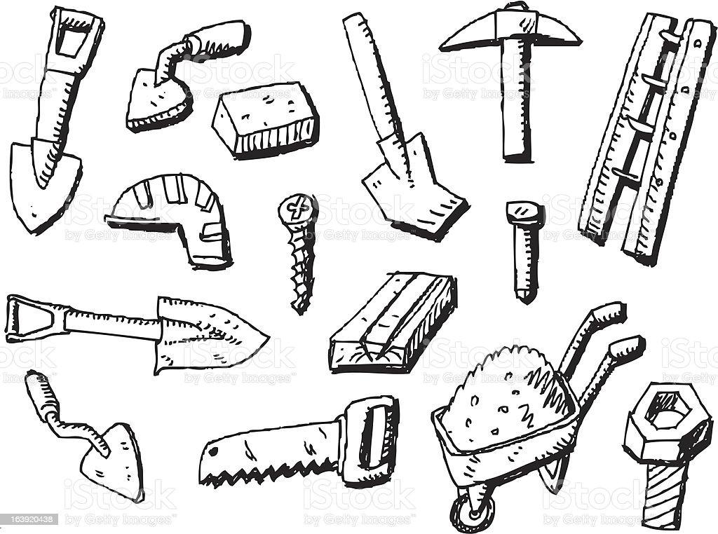big vector set - tools royalty-free stock vector art