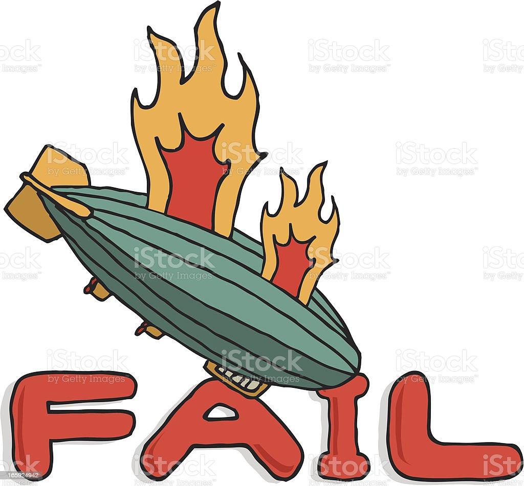 Big zeppelin fail royalty-free stock vector art
