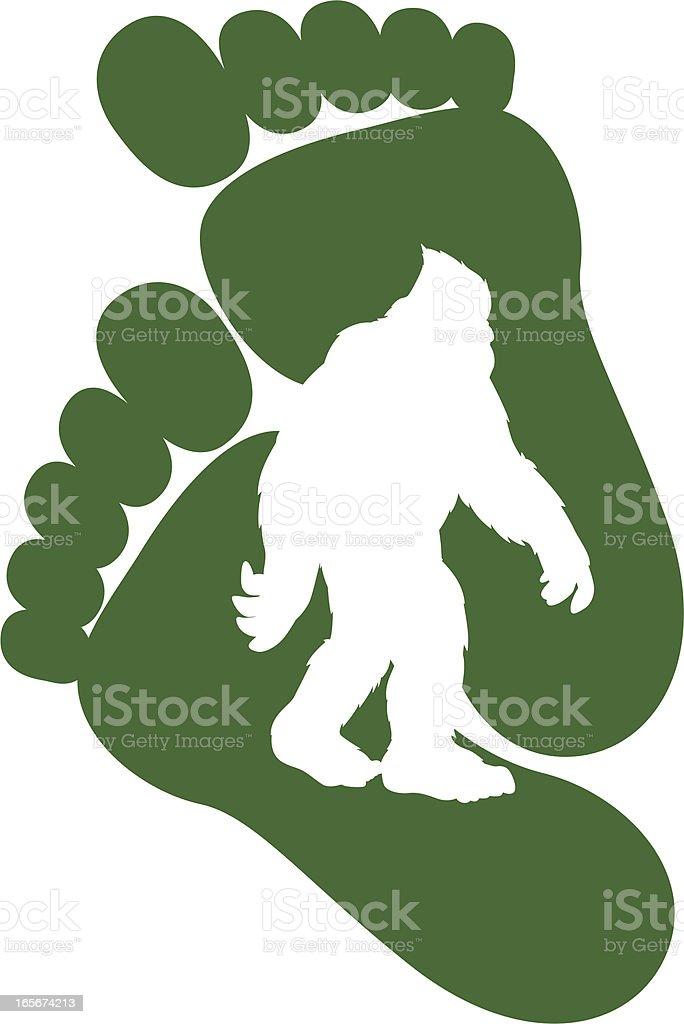 Bigfoot Design stock vector art 165674213   iStock