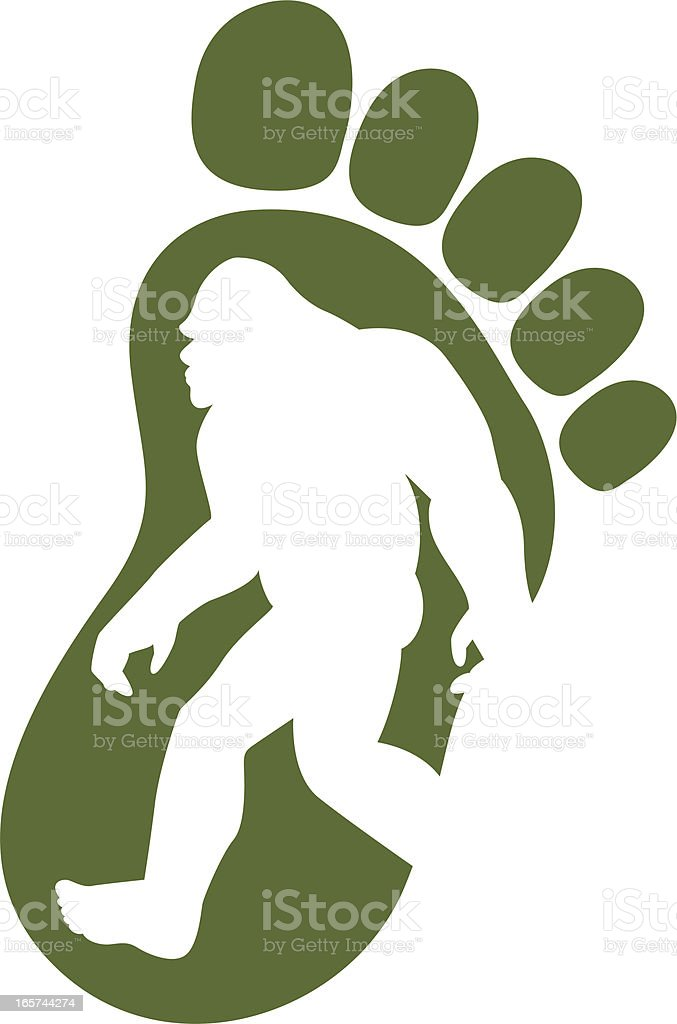 bigfoot icon royalty-free stock vector art