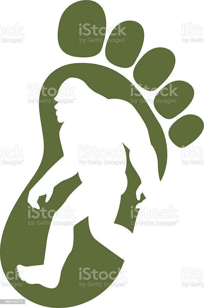 bigfoot icon vector art illustration