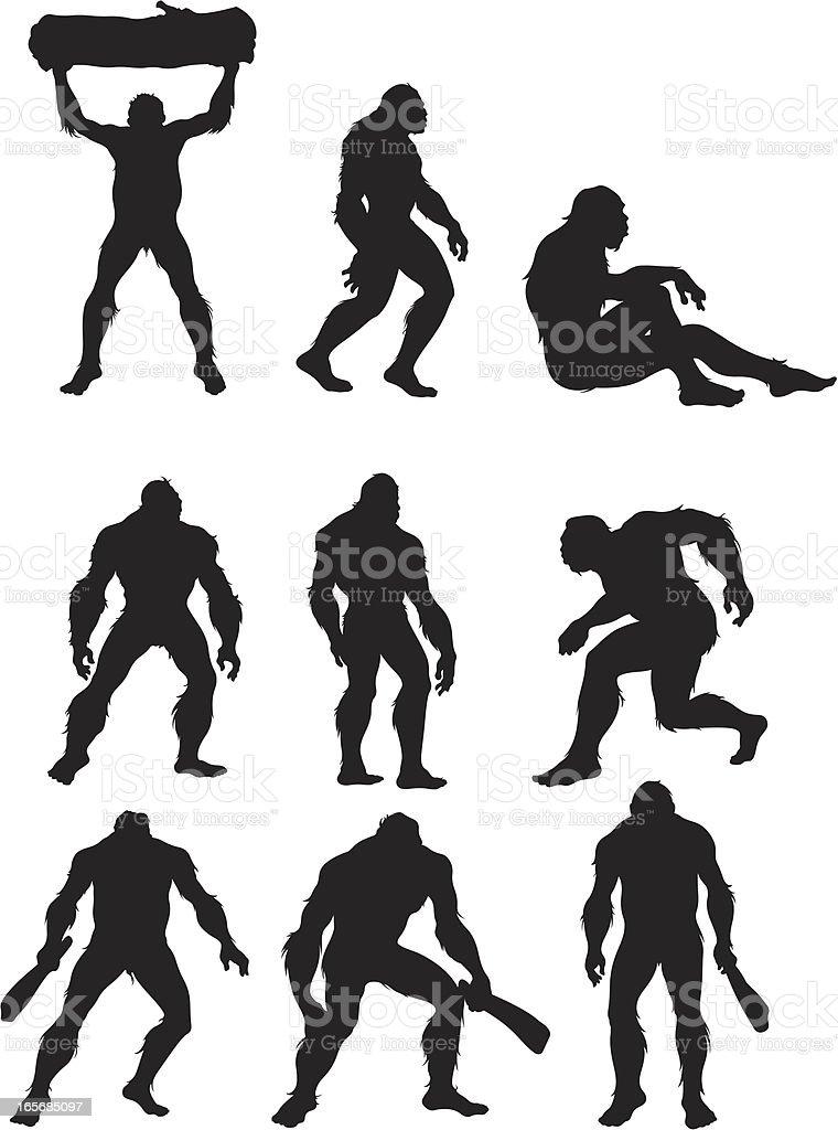 Bigfoot the humanoid beast vector art illustration