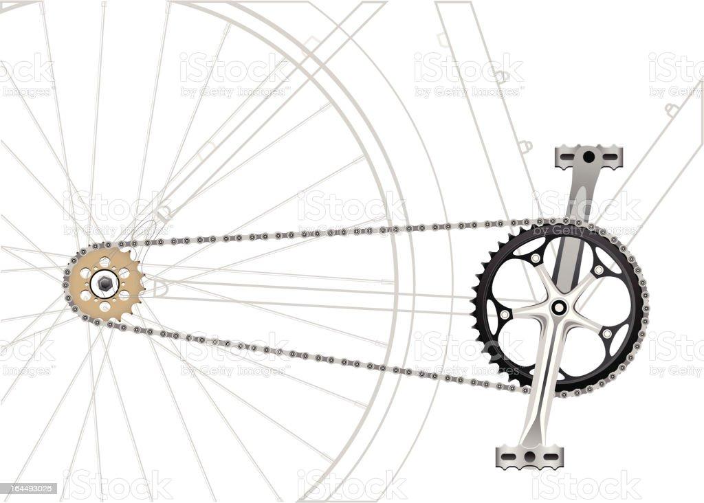 Bike Chain Drive vector art illustration