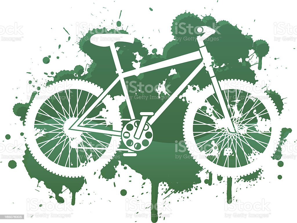 bike splat royalty-free stock vector art