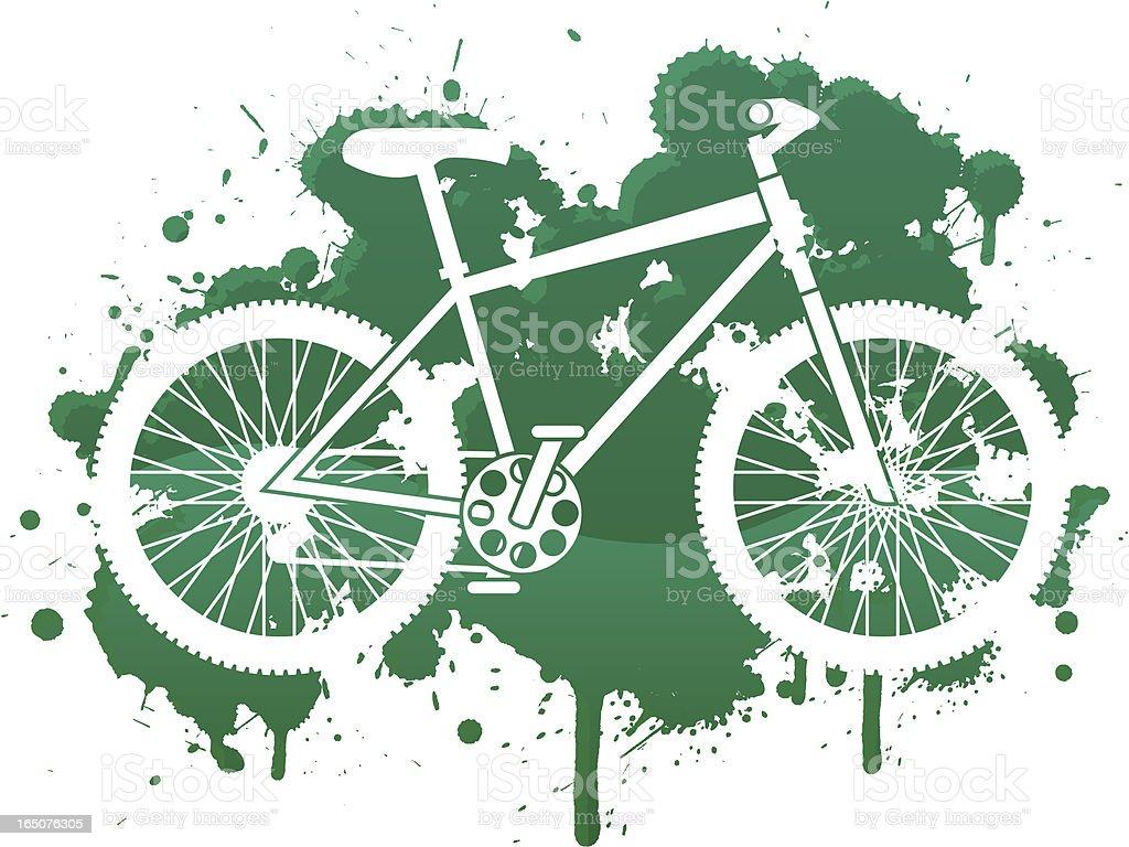 bike splat vector art illustration
