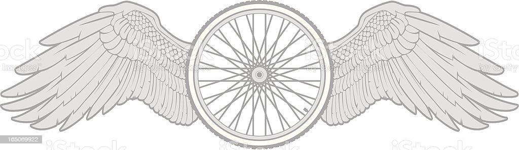 bike tire wings royalty-free stock vector art