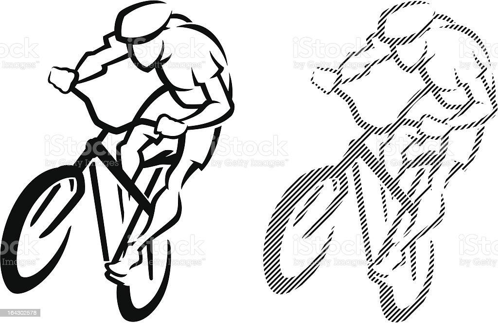 Biker Logo vector art illustration