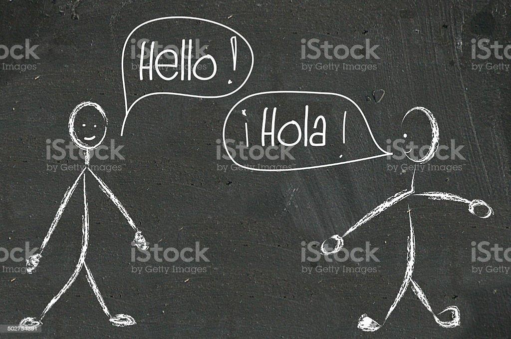 bilingual education vector art illustration