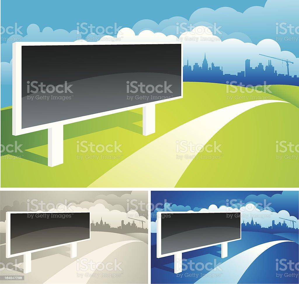 Billboard and the City vector art illustration