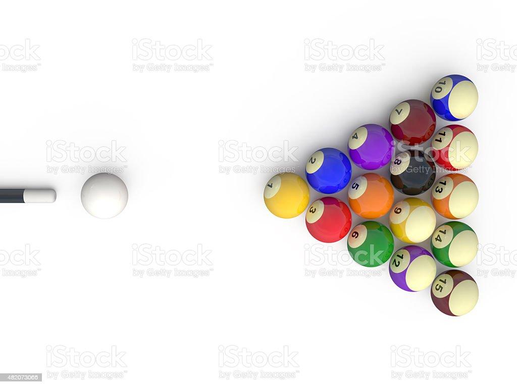 Billiard vector art illustration