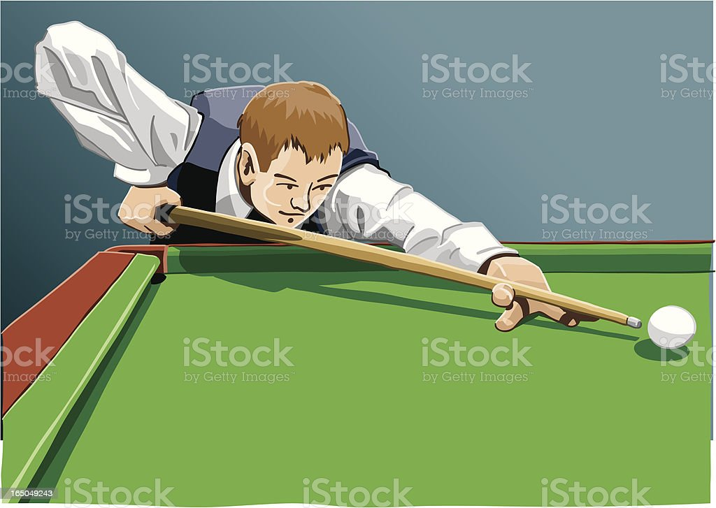 Billiard Player vector art illustration