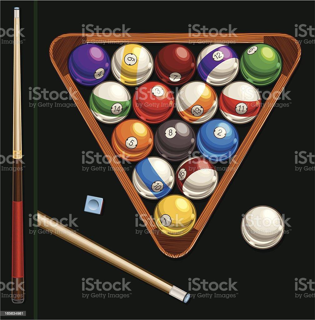 Billiards Supplies royalty-free stock vector art
